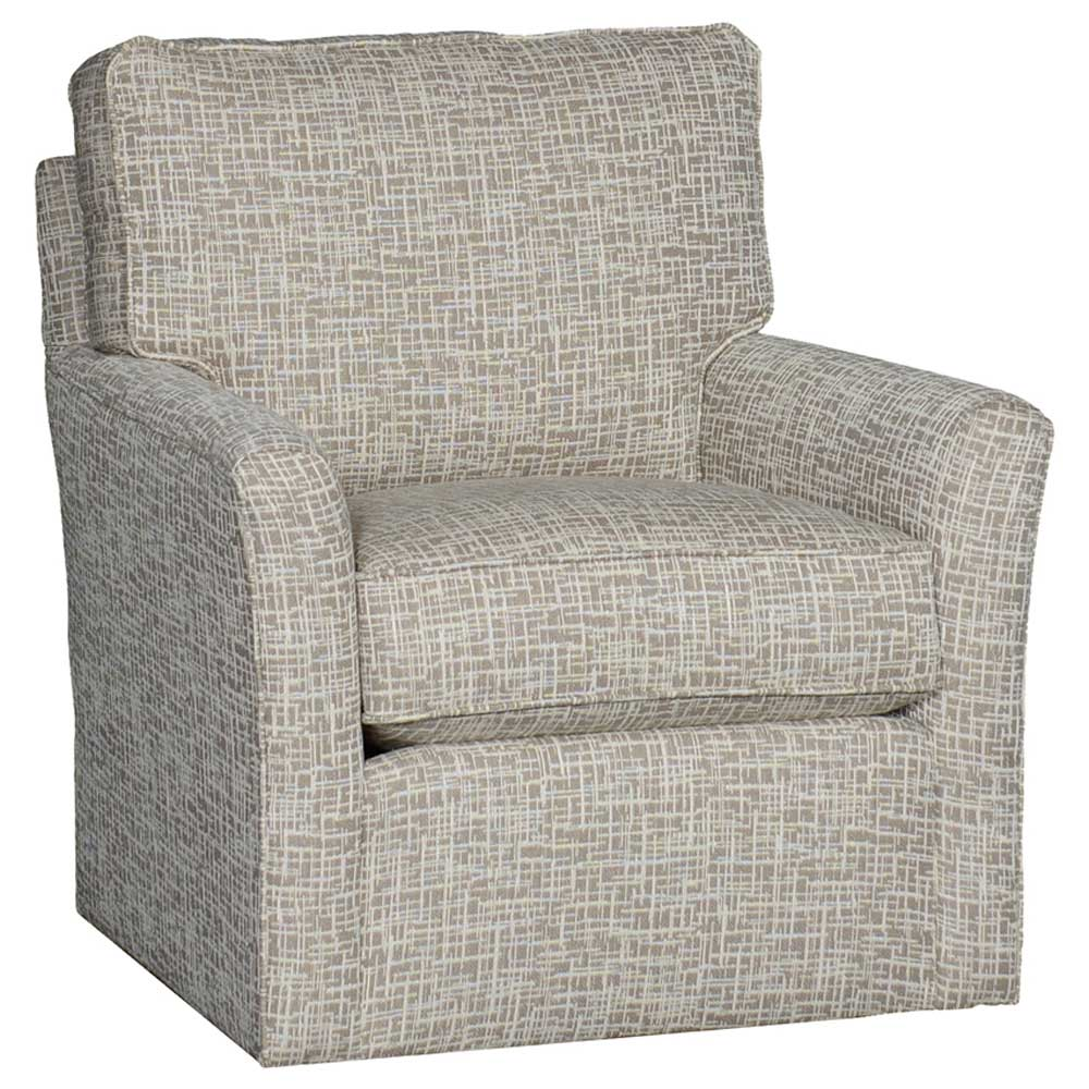 Mayo Furniture Trelor Putty Upholstered Swivel