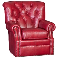 Salvador Caboose Upholstered Swivel with Nailhead finish