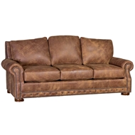Stallone Rawhide Upholstered Sofa with Nailhead finish