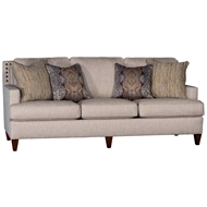 Bopper Sand Upholstered Sofa with Nailhead finish