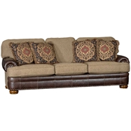Showstopper Timber Upholstered Sofa with Nailhead finish