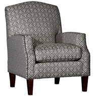 Intricate Austere Upholstered Chair with Nailhead finish