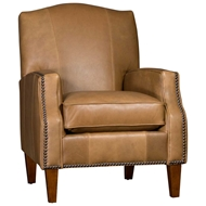 Harness Nut Upholstered Chair with Nailhead finish