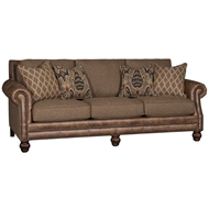 Fino Brownstone Upholstered Sofa with Nailhead finish