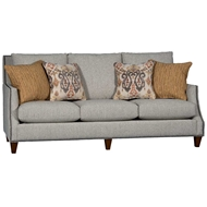 Baird Mist Upholstered Sofa with Nailhead finish