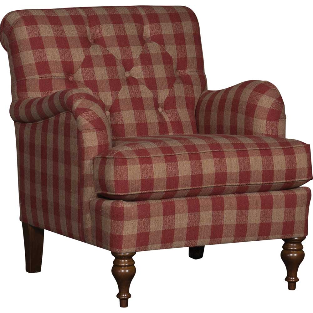 Buffalo Check Red Upholstered Chair