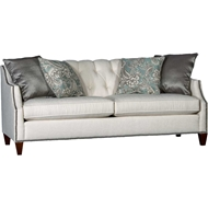 Aphrodite Ecru Upholstered Sofa with Nailhead finish