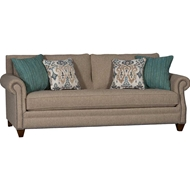 Baird Flax Upholstered Sofa with Nailhead finish