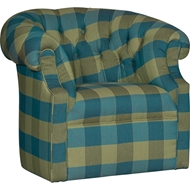 Lily Emerald Upholstered Swivel