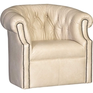 Salvador Blonde Upholstered Swivel with Nailhead finish