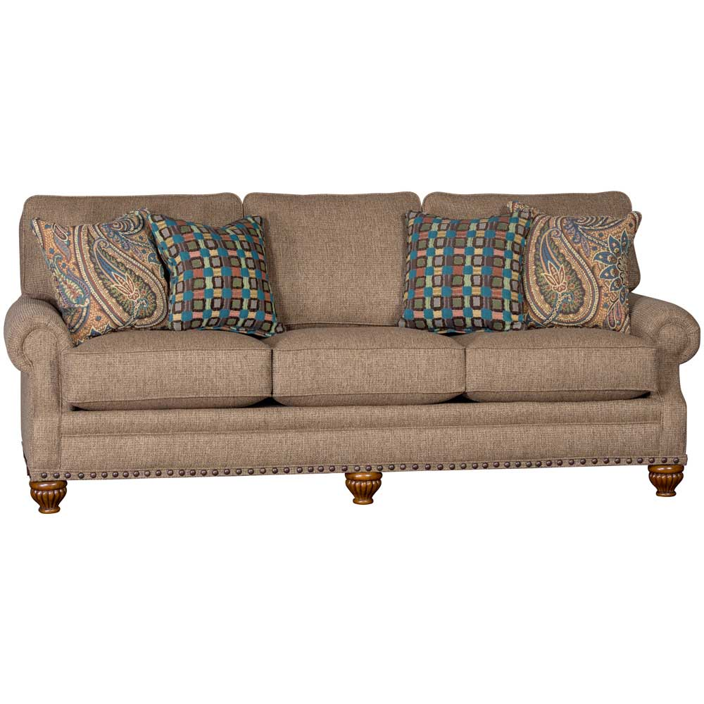 Mayo Custom Furniture Mayo Tuscan Sandalwood Upholstered Sofa W