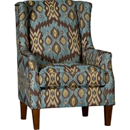 Dora Tide Upholstered Chair with Nailhead finish