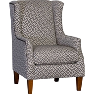 Kanza Smoke Upholstered Chair with Nailhead finish
