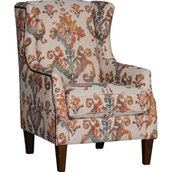 Sandoa Flame Upholstered Chair with Nailhead finish