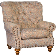 Double Take Spa Upholstered Chair with Nailhead finish