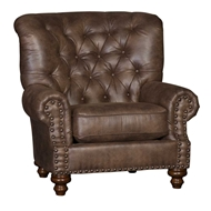 Vagabond Elk Upholstered Chair with Nailhead finish