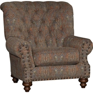 Wild Oasis Copper Upholstered Chair with Nailhead finish