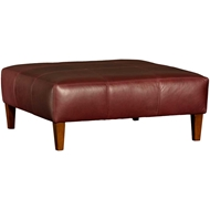 Edinburg Black Cherry Upholstered Table Ottoman 9450L51