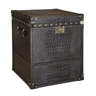 Phillips Scott Home Tuxedo Leather Trunk