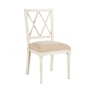 Aidan Gray Home Swedish Dining Chair CH457 AGTL - Antiquegray & Tecturedlinen