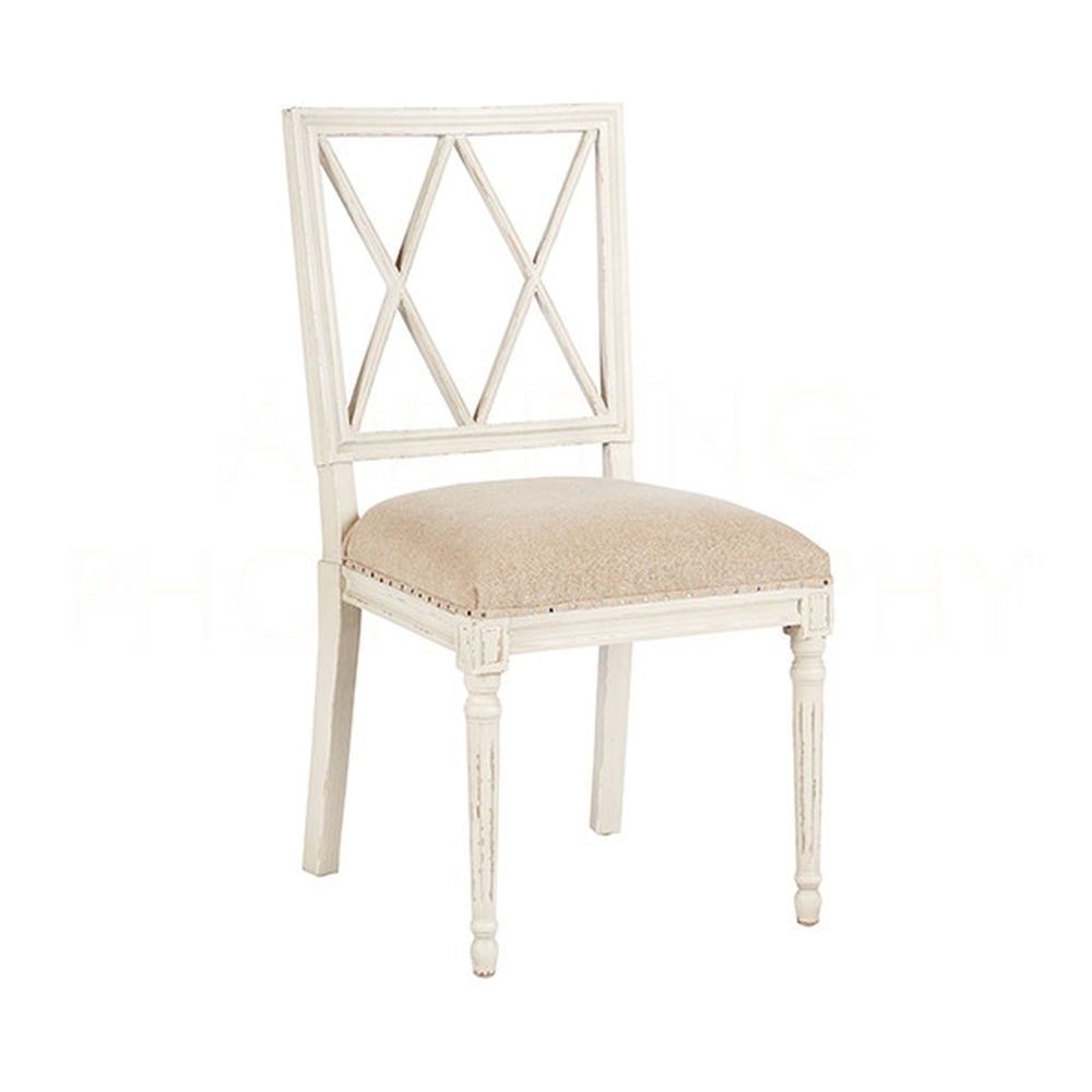 ... Aidan Gray Home Swedish Dining Chair CH457 AGTL   Antiquegray U0026  Tecturedlinen ...