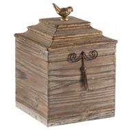 Aidan Gray Home Voler Box Tall - Pair D208 - Gold Washed Wood