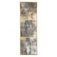 Aidan Gray Wall Decor Rivet Mirror - Large DM188 LARGE - Gold Leaf