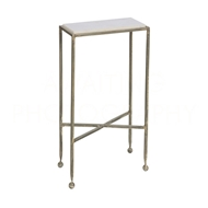 Aidan Gray Home Chino Side Table With Marble Top F215 - Zinc