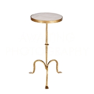 Aidan Gray Home Xavier Drink Table F230 - Gold And Marble