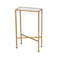 Aidan Gray Home Chino Side Table In Gold F285 GLD - Gold Leaf