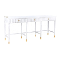 Aidan Gray Home Large Evangeline Console F348L - White