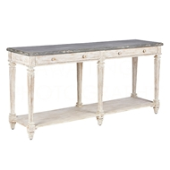 Aidan Gray Home Gennevilliers Console F354L - Distressed White And Gray