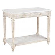 Aidan Gray Home Aubervilliers Console F354S - Distressed White