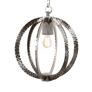 Aidan Gray Home Lighting Chan Geo Hammered Circle - Nickle