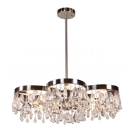 Aidan Gray Home Lighting Modern Daisy Chandelier - Nickle