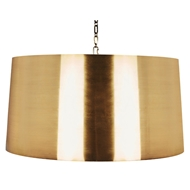 Aidan Gray Lighting Large Fanning Drum Pendant In Antique Brass L712L AB PEN HOM - Antique Brass