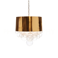 Aidan Gray Home Lighting Orb Fanning Pendant In Antique Brass