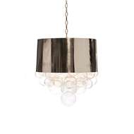 Aidan Gray Home Lighting Orb Fanning Pendant In Mirrored Nickel