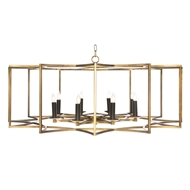 Aidan Gray Home Lighting Chandelier Geo Collection Look # 2 Large Gold