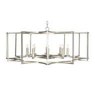 Aidan Gray Home Lighting Chandelier Geo Collection Look # 2 Large Silver L521 S CHAN HOM - Metal