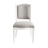 Aidan Gray Home Arch Back Dining Chair - Waxed White & Gray - Pair