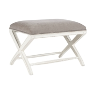 Aidan Gray Home Emma Bench - Disressed White/Cement