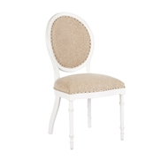 Aidan Gray Home Grace Dining Chair - Waxed White & Textured Linen - Pair