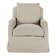 Aidan Gray Home James Stationary Chair - Linen