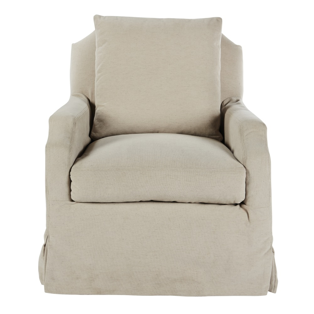 Aidan Gray Home James Stationary Chair - Linen CH700