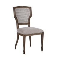 Aidan Gray Home Lisa Marie Dining Chair - Burnt Oak & Cement - Pair