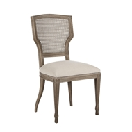 Aidan Gray Home Lisa Marie Dining Chair - Nantucket Gray & Cloud - Pair