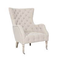 Aidan Gray Home Olivia Salon Chair - Barnwood Gray/Cloud