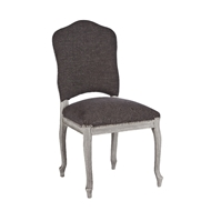 Aidan Gray Home Painted West Dining Chair - Stonewood Gray & Storm - Pair