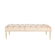 Aidan Gray Home Reese Large Bench - Rustic White